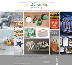 Eat Live Sleep. Interesting use of color within the boxes.