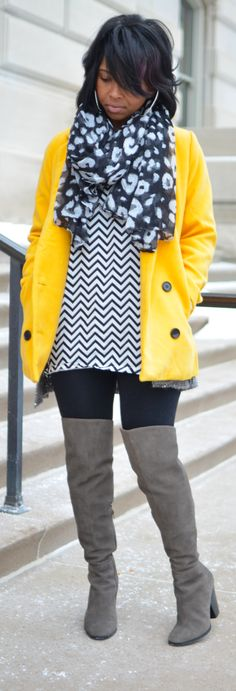 fine yellow scarf outfit 15