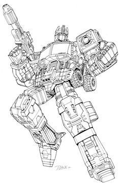 Transformers Age of Extinction Amazing Optimus Prime Coloring