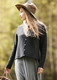Jacquardneuletakki ekopuuvillaa/villaa – Mukavia neuleita – GUDRUN SJÖDÉN - vaatteita verkossa ja postimyynnissä