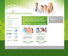 Projektina: Ulkoasun suunnittelu ja toteutus. Lisäksi päivittäjä- ja jäsenrekisterikoulutukset.  http://www.reumahoitajat.fi/