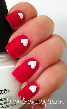 Heart Nails by intraordinary on Flickr.