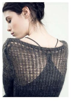 Fall/Winter collection open-knitted sweater. Gorgeous!