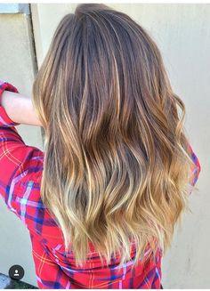 Medium length blended balayage hair