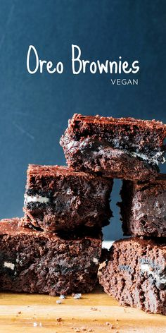 The melted, baked-in Oreos in these chocolatey, vegan Oreo brownies are seriously amazing. Bake them today and have your own vegan chocolate brownies in next to no time.