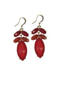 Rolling in Red Earrings