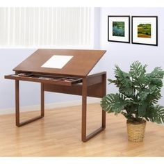 Studio Designs Ponderosa Wood-Topped Drafting and Hobby Craft Table | Overstock.com Shopping - The Best Deals on Drafting Tables