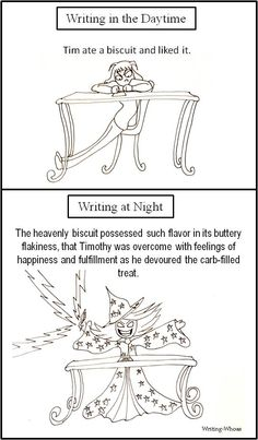 writing in the day vs. the night