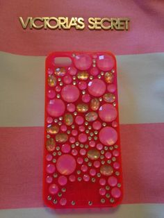 My NEW PINK Jewel Case For My iPhone 5!!