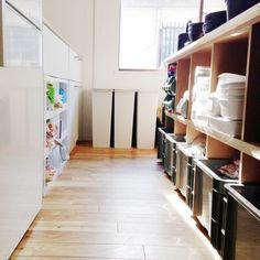 収納/野田琺瑯/DIY/見せる収納/キッチンカウンター/サンボックス…などのインテリア実例 - 2013-08-20 07:51:17 | RoomClip(ルームクリップ)