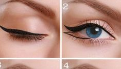 Tutorial to double winged eyeliner.
