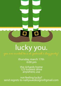 The captivating How To Make St Patrick's Day Party Invitations Designs With Winsome Layout Of 1000 Images About St Read Invitation Examples, Invitation Design, Invitation Wording, San Patrick Day, Saint Patrick, St Patricks Day Cards, Irish Christmas, St Paddys Day, Luck Of The Irish