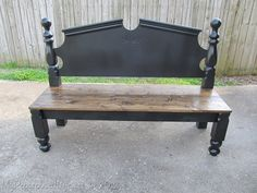 Turn a head/foot board into a bench.  This site has several ideas and pics.