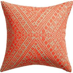 """CB2 Tribal Band 18"""" Pillow With Feather-Down Insert"""