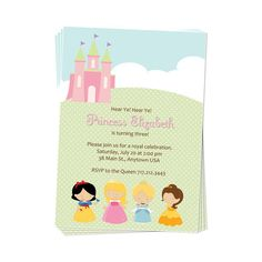 PRINTABLE Princess Party Invitation by DaysignsbyDay on Etsy