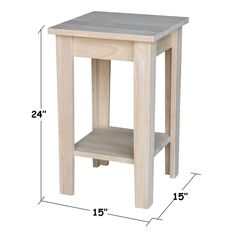 Products Solid Wood Shaker Plant Stand Unfinished - International Concepts Youth Heroes – A Double S Woodworking Projects Diy, Woodworking Furniture, Pallet Furniture, Furniture Projects, Furniture Plans, Wood Projects, Woodworking Plans, Furniture Stores, Furniture Decor