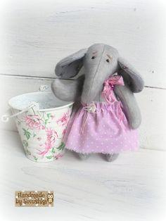 Free shipping worldwide Artist Teddy elephant Shabby chic elephant Plush toy Little elephant Jumbo Author toy Small jumbo Gift for her OOAK elephant teddy interior toy sawdust ooak gift for her grey artist teddy jumbo teddy elephant stuffed shabby chic elephant toy 64.77 USD #goriani