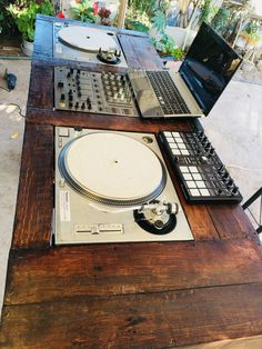 """, A few years ago, CNET ran a story posing the question, """"How can receivers sound bette, Vinyl Storage, Record Storage, Dj Equipment For Sale, Dj Rig, Turntable Setup, Dj Stand, Dj Table, Porch Bar, Dj Decks"""