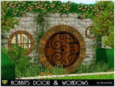 Hobbit's door & windows by Severinka - Sims 3 Downloads CC Caboodle