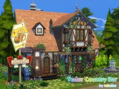 A little country bar for your windenburg. not only a drinking area,also with a dance floor and secret club,20*20 NOCC,have fun here!!  Found in TSR Category 'Sims 4 Community Lots'