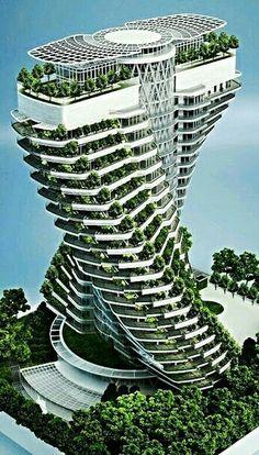 Architecture Unique, Conceptual Architecture, Futuristic Architecture, Sustainable Architecture, Chinese Architecture, Architecture Office, Unusual Buildings, Amazing Buildings, Future Buildings