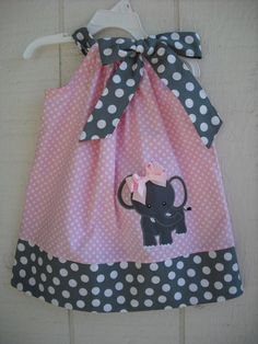 Elephant Pillowcase Dress by MyDaughtersShop on Etsy