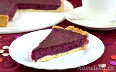 Pie with Black Currant. Open pie dough pastry stuffed with frozen black currants. Currant Recipes, Kinds Of Pie, Black Currants, Country Cooking, Dessert Recipes, Desserts, I Foods, Sweet Treats, Cheesecake