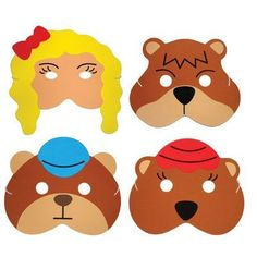Shop Teaching Resource Sack - Goldilocks & the 3 Bears Story Play Mask Set. Free delivery and returns on eligible orders of or more. Bears Preschool, Preschool Themes, Kindergarten Activities, Fairy Tale Theme, Fairy Tales, Bear Mask, Learning English For Kids, Traditional Tales, Goldilocks And The Three Bears
