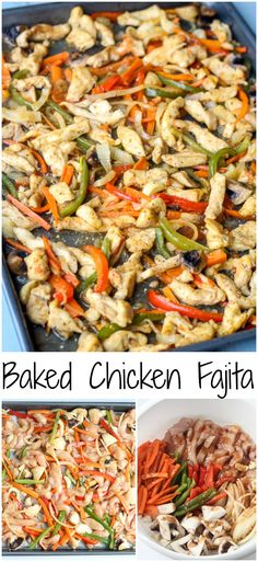 Baked Chicken Fajita. ValentinasCorner.com