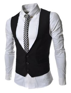 Amazon.com: TheLees Mens Business Slim fit 3 Button Vest Waist Coat: Clothing