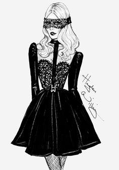 Hayden Williams Fashion Illustrations: 'The Little Black Dress' by Hayden Williams