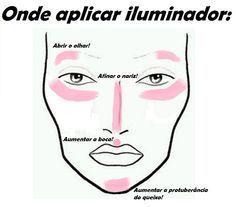 Truque de maquiagem: aplicar iluminador                                                                                                                                                      Mais