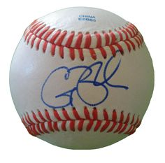Casey Blake Autographed Rawlings ROLB1 Leather Baseball, Proof Photo