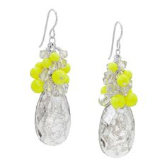 Glowing earrings on Fusion Beads