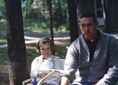 Caroline Kennedy with Secret Service agent, Bob Foster, at Camp David, May 5, 1963.