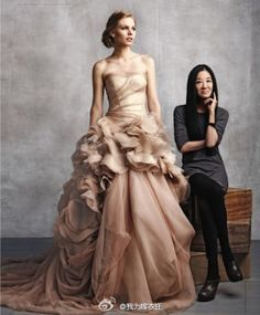 Vera Wang and her dress
