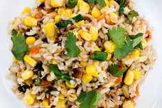 Corn salad with brown rice, sesame and coriander – Recipes – Bite