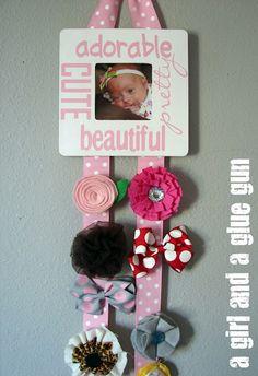 hair bow holder diy. Baby shower gift