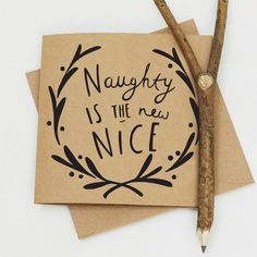 Christmas Card Naughty or Nice 13.5x13.5 cm by OldEnglishCo