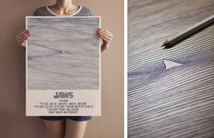 """""""Jaws"""" poster made out of 202 solid curves by Bartosz Kosowski"""