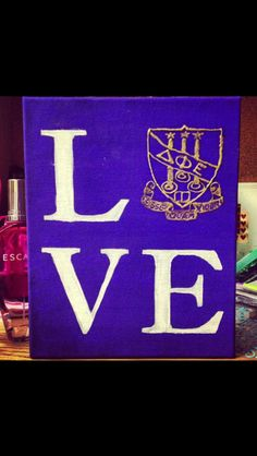 sorority craft for my big dphie delta phi epsilon esse quam videri