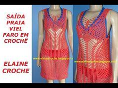 Elaine Croche: Saída de Praia no Modelo da Esposa do Rodrigo Faro a Vera Viel - Vídeo Aula Crochê