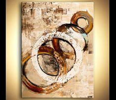 Gran impresión abstracta en lona impresión listo para colgar y
