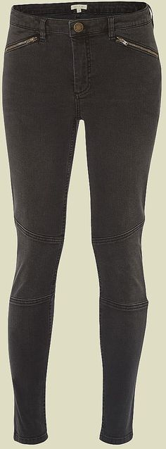 Womens charcoal brook biker jean from White Stuff - £55 at ClothingByColour.com