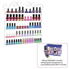 Dazone DIY Mounted 5 Shelf Nail Polish Wall Rack Organizer Holds 100 Bottles Nail Polish or Essential Oils White -- To view further for this item, visit the image link.
