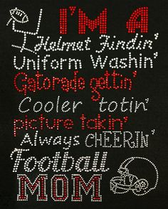 Football Mom List  TRANSFER ONLY by BlingThingsWholesale on Etsy, $13.00