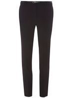 Womens Black Belted Trousers- Black