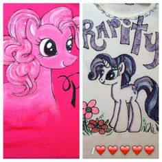 Pony shirts painted with acrylic paints. FunnyG