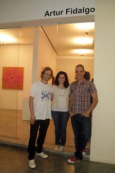 Fernando de La Rocque, Rosana Palazyan e Fábio Carvalho na Artur Fidalgo Galeria #artrio #ciga #compartilhearte