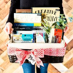 Give The Gift Of Creativity Baskets Are Great But Filled With
